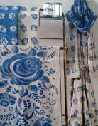 Carrara.- Cotton Hooded Bathrobe Rose Blue Size L