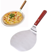 Pizza Peel , WCIC Stainless Steel Pizza Shovel Cookie Baking Tool Bakers Paddle with Wooden Handle