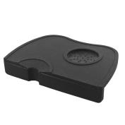 Welim Coffee Pad Silicone Pad Corner Tamping Mat Coffee Tamper Mat Espresso Tamping Mat Easy to Use Black