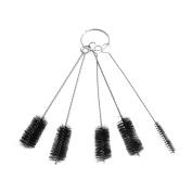 VWH 5Pcs Nylon Bottle Tube Nozzle Brushes Cleaning Brush Cleaner Set Kitchen Tool Black
