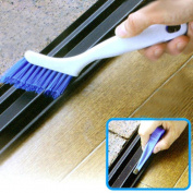 IGEMY Window Frame Door Slotted Groove Fur Brush Folding With Scraper Cleaning Brush