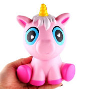 Mingfa Stress Toys for Kids Squishy Slow Rising Jumbo Squishies Cute Pink Unicorn Cream Scented Squeeze Toys for Autism