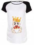 Happy Mama. Women's Maternity King Angel Devil Baby Print Tee T-shirt Top. 502p