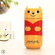 ZHUOTOP 220ML Cute Vacuum Flask Stainless Steel Coffee Bottle Thermos Cup Travel Mug Yellow