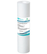 AquaHouse 25cm Sediment water filter cartridge for Reverse Osmosis, Water fed pole & Partictle filtration, fits standard 25cm filter housings - 1 micron