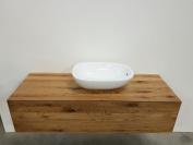 Solid Oak Vanity Unit Wash Basin, Countertop Solid Wood &