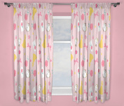 Disney Princess Curtains – Perfect for Any Children's Bedroom – 54 inch Size, Microfibre, Pink, 22.01 x 3.61 x 27.51 cm