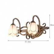 European Mirror Front Lamp Bathroom LED Retro Wall Lamp 3-head Glass Mirror Cabinet Lights