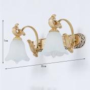 European Mirror Front Light 3 Head Resin Bathroom Wall Lamp Bathroom Toilet Makeup Lamp