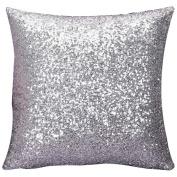 Ruikey Sequins Pillow Cases Silk Sofa Waist Car Cushion Covers for Home Decoration ,40 × 40 cm