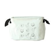 iTemer Storage Baskets Organiser Cute Cat Storage Box Linen Cotton Storage Bin