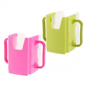 MagiDeal 2pcs Spill Proof Juice Box Holders Cup Drink Mug Handle Baby Kid 100-365ML