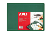 APLI Cutting Mat 300 x220 x 2 mm PVC Green