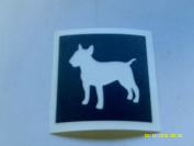 12 x Staffordshire Bull Terrier / Pitbull dog stencils for etching on glass hobby craft glassware Staff Staffy