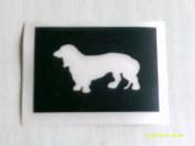12 x Dachshund dog stencils for etching on glass hobby craft