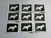 12 x French bulldog dog stencils for etching on glass hobby craft Frenchie