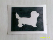 12 x Dainty dinmonte dog stencils for etching on glass hobby craft