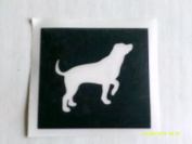 12 x Labrador dog stencils for etching on glass hobby craft Yorkie