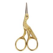 Crane Shape Sewing Tailoring Scissors 9cm Gold