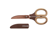 Nakabayashi Co., Ltd. cutlery of town, about scissors craftsman supervision crispy To cut brome Gili titanium coat Mocha NH-HT175M