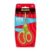 3 M Scotch Kids 57058 Scissors, 12 cm, Pointed Tip, Soft Fabric-Assorted Colours