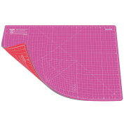 ANSIO A2 Double Sided Self Healing 5 Layers Cutting Mat Metric/Imperial 45cmx 60cm - Pink/Red