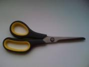 Stainless Steel Soft Grip Scissors 20cm - BLACK/YELLOW