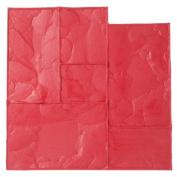 BonWay 12-595 60cm x 60cm Ashlar Cut Stone Urethane Texture Mat - Red