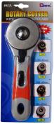 Dafa 60 mm Safeguard Sof Grip Rotary Cutter, Multi-Colour