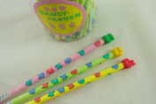 Paper Scissors Rock Green Red Yellow Handy Janken HB Pencils (3 pencils) from Japan