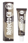 Refectocil Natural Brown 3 Eyelash and Eyebrow Tint 15ml by Refectocil