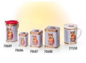 Ted – 100g Square Tin, Snap-on Lid, Embossed 98 x 65 x 65 mm