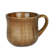 WDOIT Wooden Handmade High Temperature Coffee With a Glass of Milk