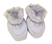 Trend Lab Baby Booties Swirl Velour and Matte Satin, Grey
