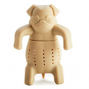 Sunwords Pug Tea Infuser Cute Bulldogs Silicone Tea Strainers-Deep Tea Scuba Diver Tea Infuser