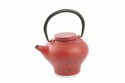 Villa d 'Este Home Tivoli 2416373 Teapot, Cast Iron, Red
