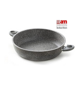 High stone non-stick Saucepan 2 handles cm.28 Heart of stone – Induction
