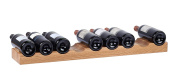 Hollyberry Home 9 Bottle Wine Holder, Wood, Natural, 18 x 77 x 5 cm