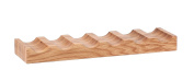 Hollyberry Home 6 Bottle Wine Holder, Wood, Natural, 17 x 52 x 5 cm