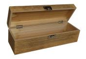 Single Bottle Oak Effect Hinged Lid Wooden Gift Box