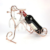 Wrought iron wine rack wine rack to go back to the ancient folding cup