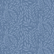 Liberty Quilt Fabric, English Garden, Leaf Trail Blue, Fat Quarter 04775607Y