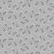 Higgs & Higgs - Makower - Into The Woods - Berry - Grey - Cotton Fabric Quilting Patchwork