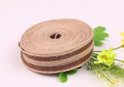 Kingken 1 pc Burlap Ribbon for DIY Craft Home Decoration