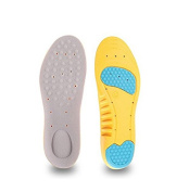 Kingken Durable Sweat-Absorbent Basketball PU Insoles Ultra Soft Breathable Shoe Insoles Flat