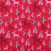 Fat Quarter Rudolf Christmas Cotton Quilting Fabric Copenhagen Print Factory