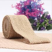 Rcdxing 4 Rolls DIY Wedding Decoration Burlap Craft Ribbon Fabric