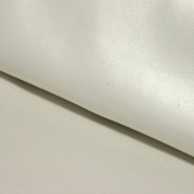 Faux Leather Smooth with Light Ribbed Mother of Pearl White