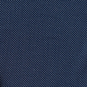 Navy Blue Textured Heavy Jersey Fabric, with pin point polka dot pattern. Loopback jacquard stretch knit - sold by the metre