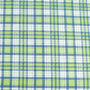 Blue & Green Chequered Checked Leading Brand 100% Cotton Fat Quarter FQ Quilting, Bunting, Craft Fabric FQ130D